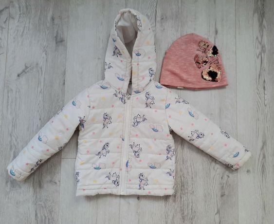 Демисезонная куртка+шапка