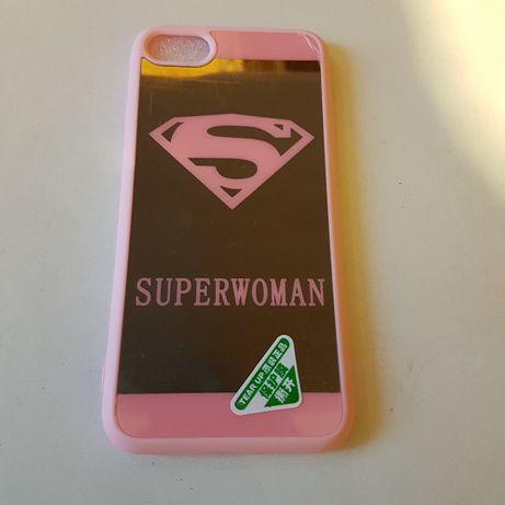Etui Iphone 5c 6 7 8 Superwoman lustro silikon różowe