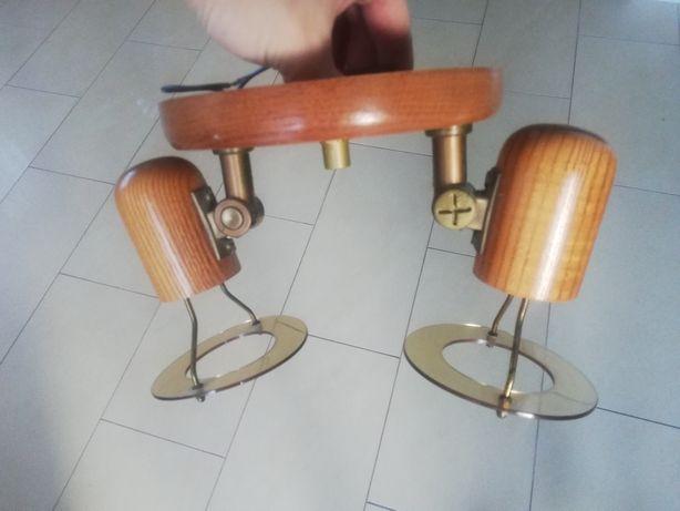 Lampa sufitowa drewniana sprawna stan bdb