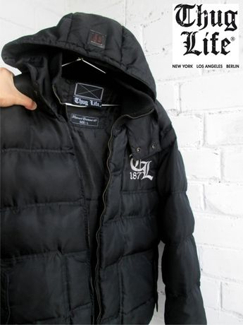 Thug life мужская куртка парка пуховик зимова чоловіча куртка Торг