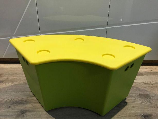 Pudełko na zabawki, pojemnik, siedzisko, ława IKEA GLIS