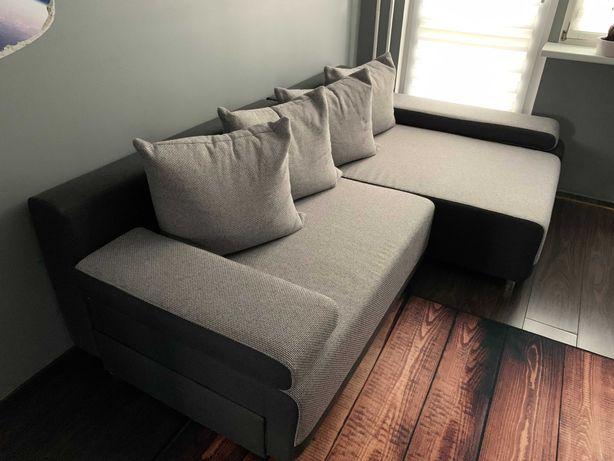 Łóżko [rogówka] z 4 poduszkami i komorą na pościel - 550zł