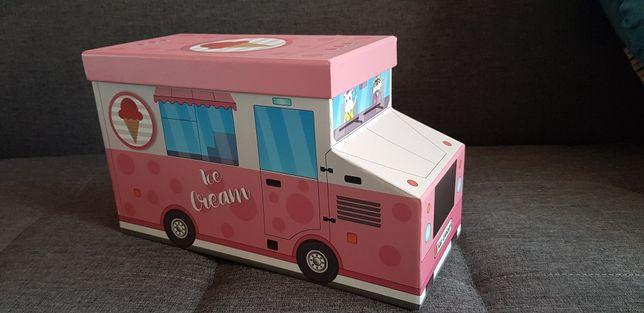 Pudełko prezentowe auto ciezarkowka z lodami ICE CREAM CAR