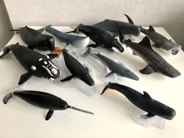 Дельфины, киты, кашалот, акулы, морские обитатели Schleich(Шляйх) PAPO