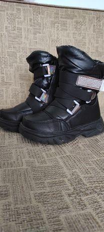 Зимові чоботи на овчині 27 розмір, зимние сапоги для девочки
