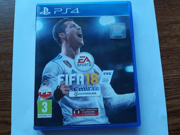 Gra na konsolę PS4 Fifa 18 po polsku