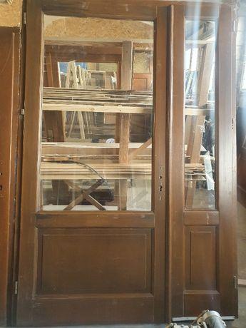 DRZWI Wewnetrzne Dębowe Drewniane Dąb Dwuskrzydłowe