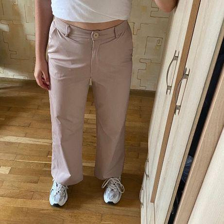 Широкие брюки (бежевые)