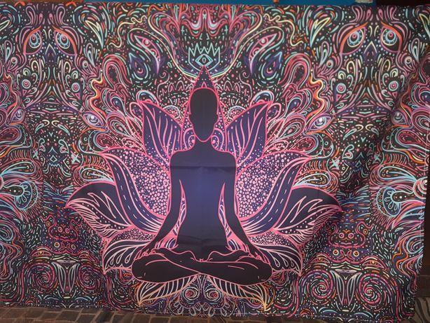 Tapeçaria mandala colorida de parede