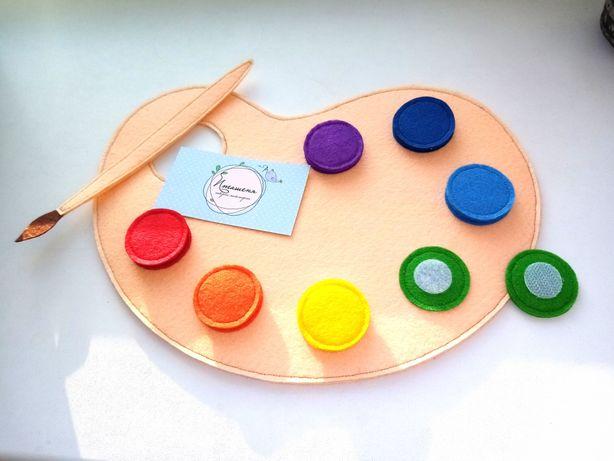 Развивашка из фетра, развивающая игрушка для ребёнка, іграшка дитяча