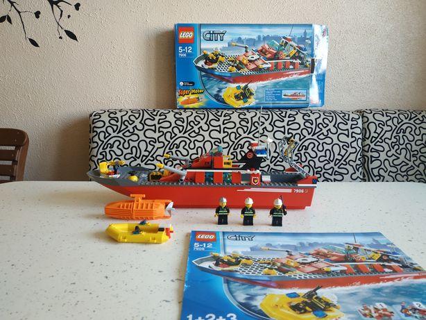 Лего Lego city 7906 пожарный корабль оригинал
