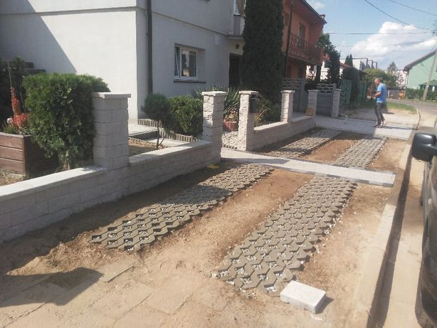 Ogrodzenia Panelowa Łupane Siatka Betonowe