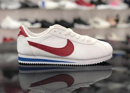 Nike Cortez/ Rozmiar 39 Białe - Czerwone *WYPRZEDAŻ*