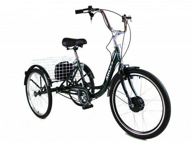 Трёхколесный Электровелосипед СARGO CITY BIKE литий ионный АКБ 8А с ко