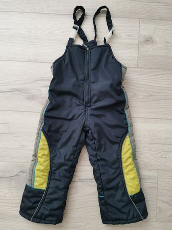 Зимние штаны комбинезон полукомбинезон на шлейках 2-3 года