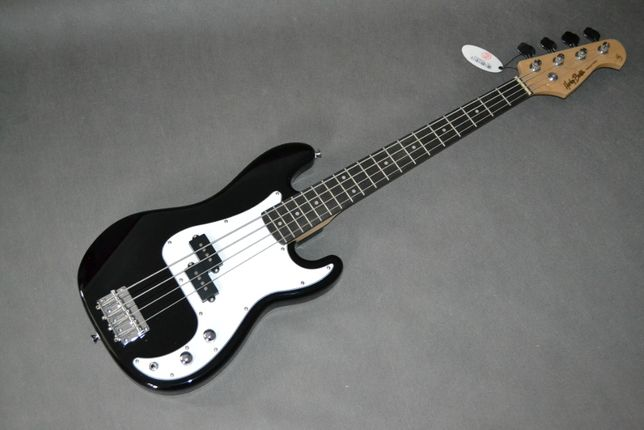 Harley Benton PB-SHORTY BK czarna gitara basowa BAS 3/4 -setup gratis!