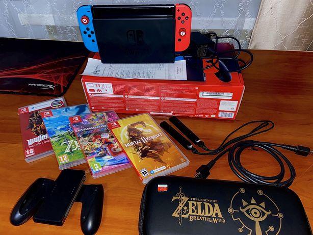 Nintendo Switch 2 ревизия + Zelda, MK11, Mario Kart 8, Wolfenstain