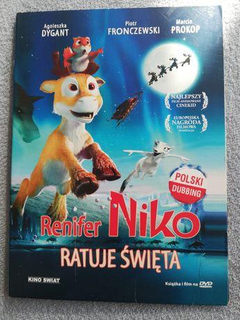 Renifer Niko Ratuje Swieta film na DVD