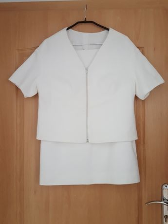Komplet kostium marynarka żakiet spódnica Hexeline roz. 44 L