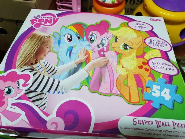 Puzzle Kucyki My Little Pony do klejenia na scianę 54el 92x55cm SAMBRO
