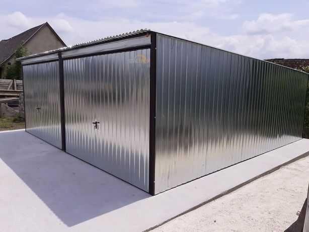 Blaszak/garaż blaszany podwójny/stalowy magazyn podwyższony 3x6