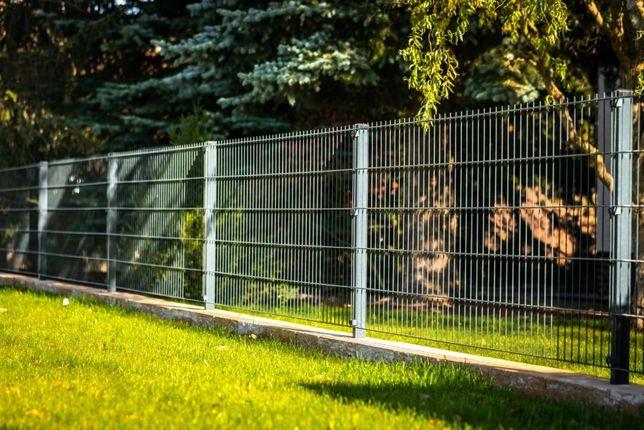 Ogrodzenie Panelowe Panele Ogrodzeniowe 2D 143cm 6/5/6 + podmurówka