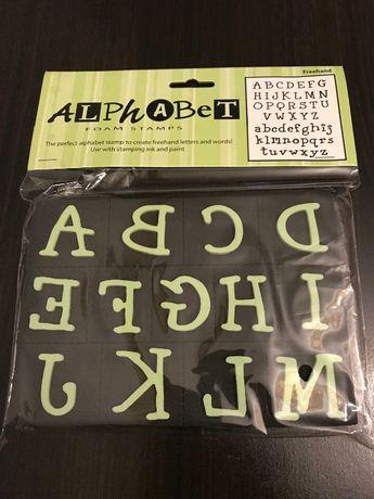 Alfabet, Stemple piankowe dla dziecka, pieczątki