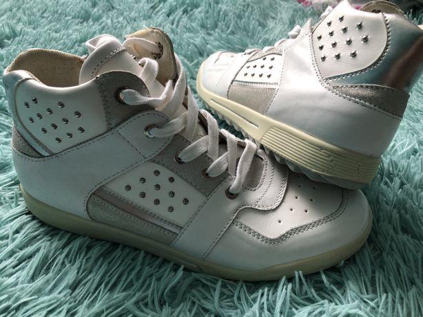 Biale buty do kostki botki nowe Primigi 38 24,5cm