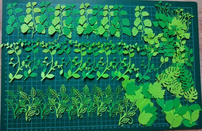 Scrapki roslinki zielone 100 sztuk
