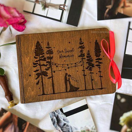 NEW! Фотоальбом из дерева - подарок на свадьбу, годовщину! СКИДКА! Жми