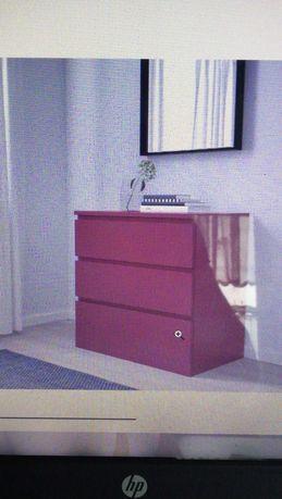Ikea Malm Komoda Czerwona stan bardzo dobry