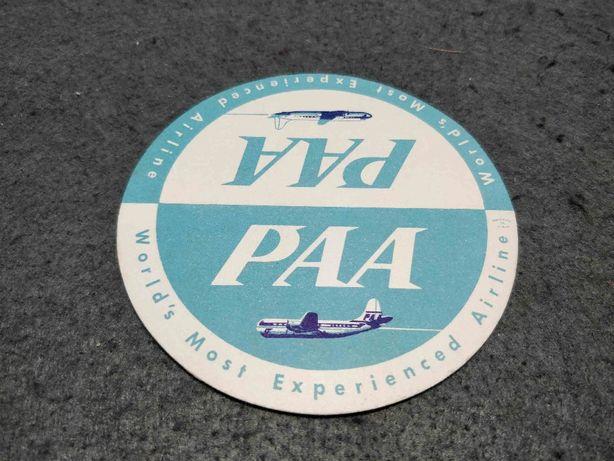 Base para copos publicidade à Pan American World Airways