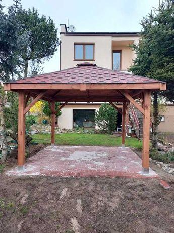 Altana altanka ogrodowa drewniana MOSKWA 3X3