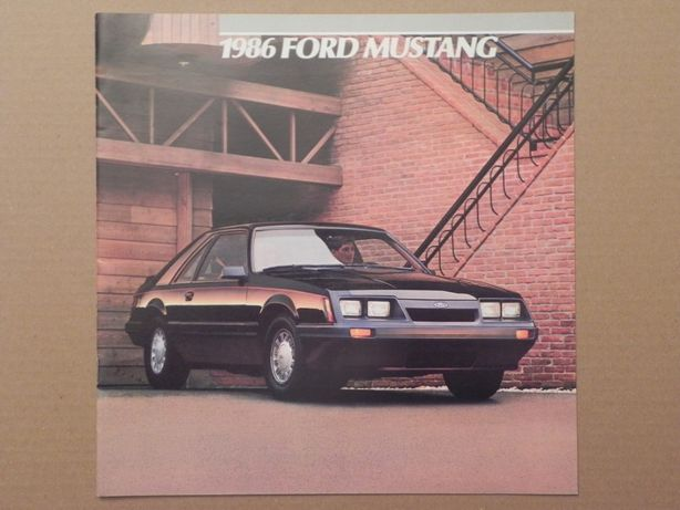 Prospekt - FORD MUSTANG - 1986 r