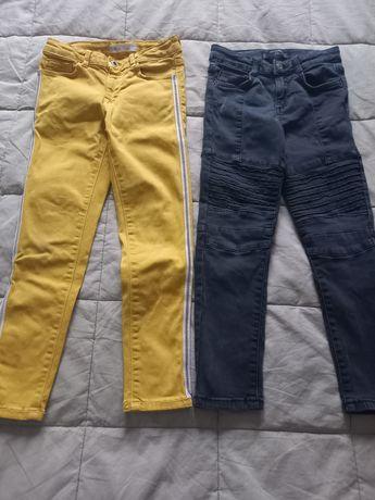 Jeansy spodnie dla dziewczynki rozm. 122 cm 6-7 lat Mango Zara