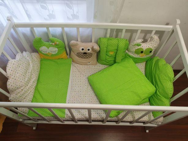 Детское постельное белье + одеяло и подушка совы,звезды