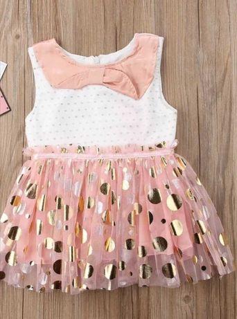 Sukienka wizytowa dla dziewczynki 80