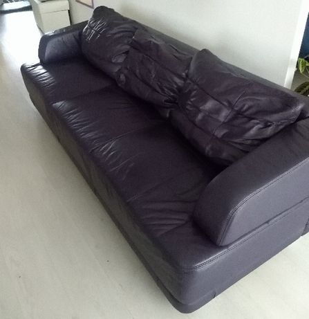 Sofa skórzana , kolor fioletowy