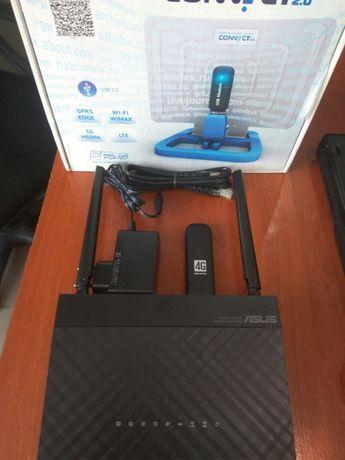 4G LTE комплект Wi-Fi роутер+ модем Asus RT-AC51U/N14U ZTE MF823/3372