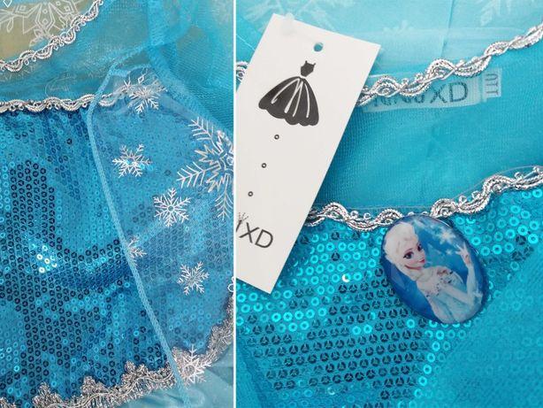 CARNAVAL - Fantasia / Vestido Princesa Elsa (Frozen) - NOVO