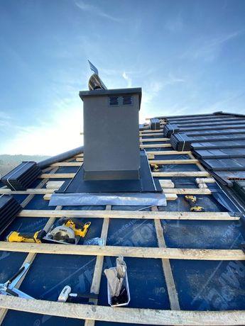 Remont Dachów, Prace wysokościowe, Obróbki blaszane / Krycie dachu