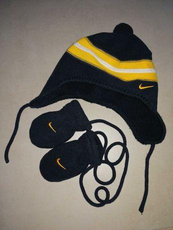 Czapka i rękawiczki (komplet) Nike r. 4-9 m-cy