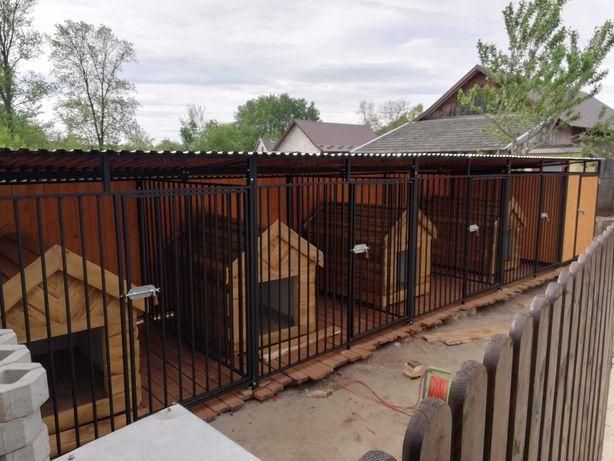Kojce dla psów,kojec dla psa szeregowy z drewutnia,klatka 8x2,opolskie