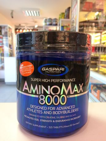 GASPARI NUTRITION Amino Max 800 - 325tabs aminokwasy Muscle Power