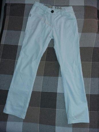 Брюки для девочки рост134, розовые и бежевые на 8-9 лет, летний джинс.