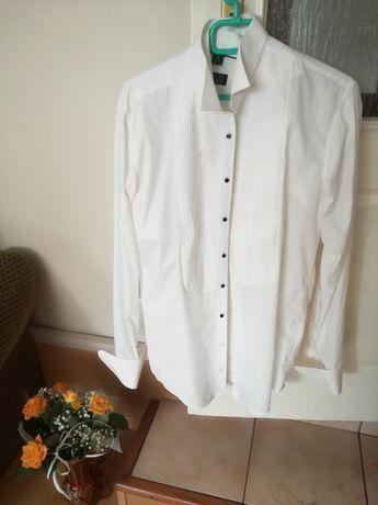 Ślub koszula męska M ecru(mleczna) dla Pana Młodego