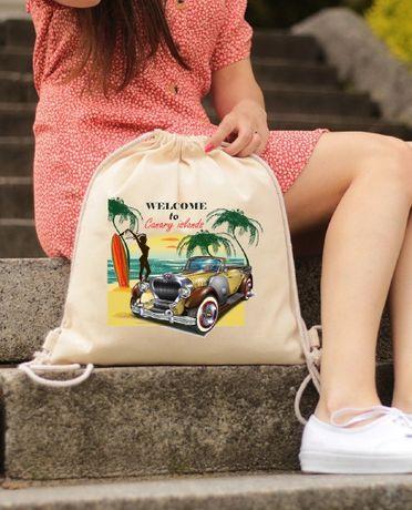рюкзак из хлопка, стильный рюкзак с яркими принтами