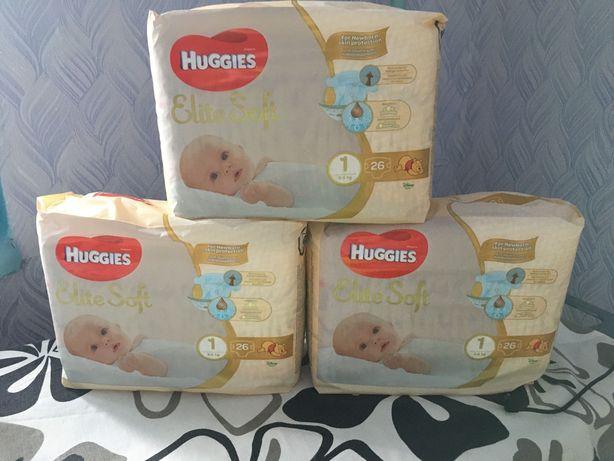 Подгузники Huggies Elite Soft размер 1, 3-5 кг, 26 шт