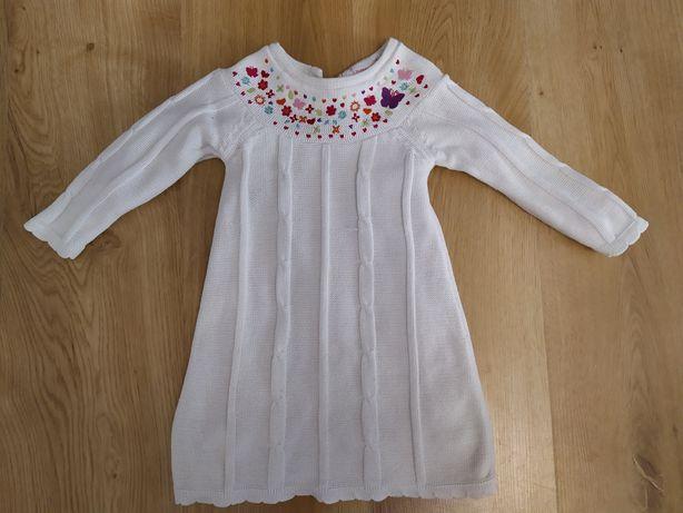Sukienka dzianinowa tunika sweterek r. 80-86