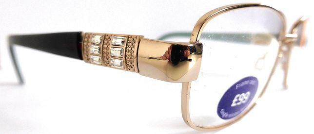 Nowe okulary /oprawki złote z cyrkoniami kryształkami